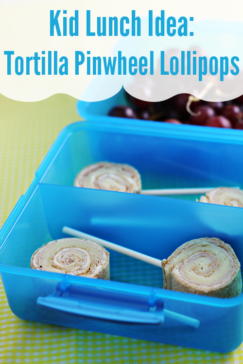 Kid Lunch Ideas: Tortilla Pinwheel Lollipops