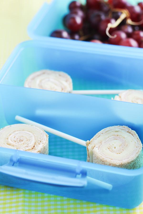 Kid Lunch Ideas - Tortilla Pinwheel Lollipops Recipe