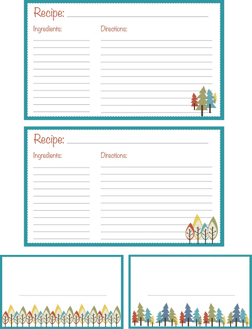 Free Printable Recipe Card by Little Green Thread