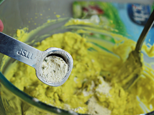 Making Deviled Eggs with Hidden Valley Ranch Dressing