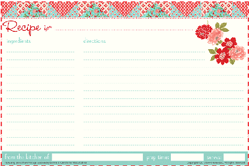Recipie Card Template Solan Annafora Co