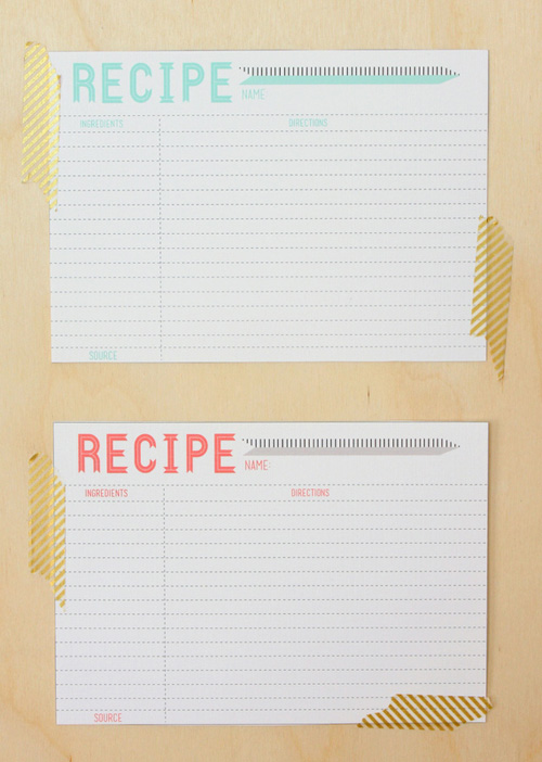 recipe cards by feeling lovesome