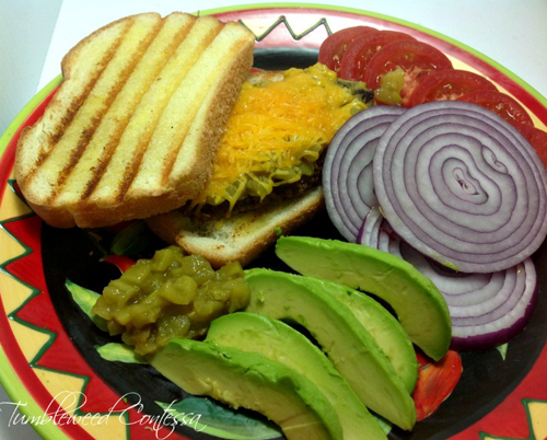 Grilled Cheese Green Chile Burger by Tumbleweed Contessa