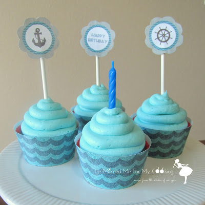 Ocean Water Cupcakes by He Married Me for My Cooking