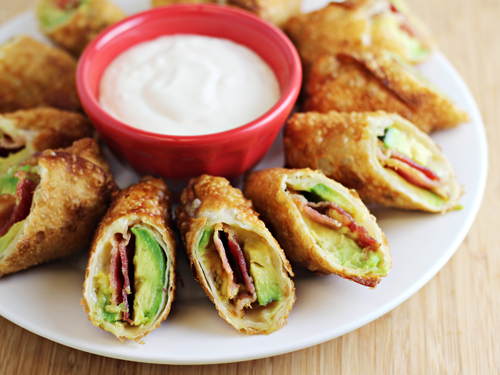 how to make avocado egg rolls from cpk