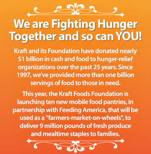 Fighting Hunger Together with Kraft Foods