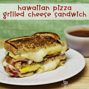 Hawaiian Pizza Grilled Cheese Sandwich #SundaySupper