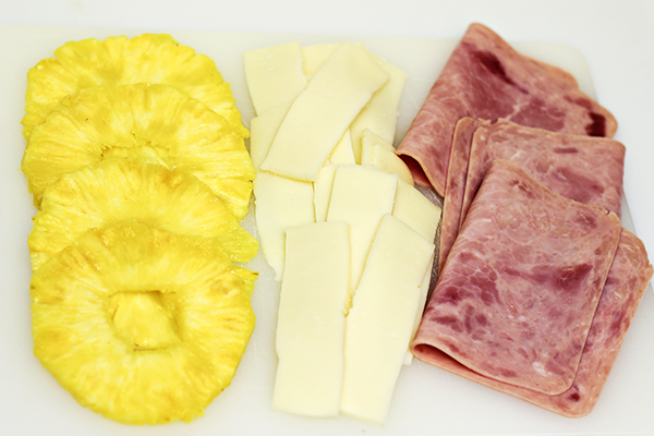 Hawaiian Pizza Grilled Cheese Sandwich Recipe - Ingredients