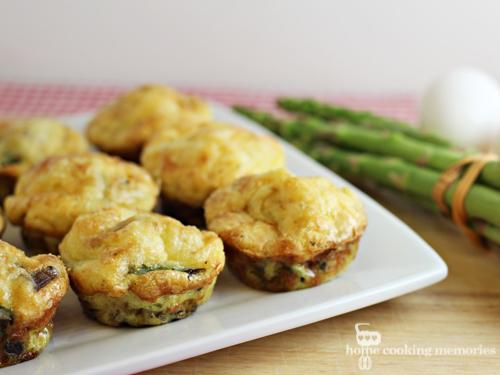 Mushroom and Asparagus Mini Quiches