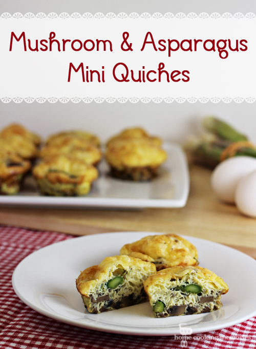 Mushroom and Asparagus Mini Quiches