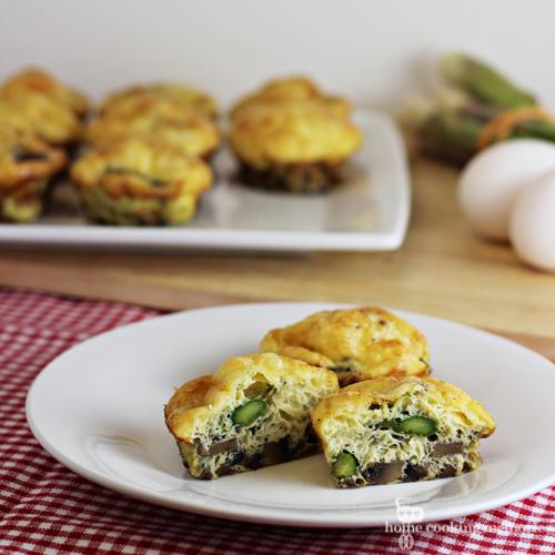 Mushroom Asparagus Mini Quiches