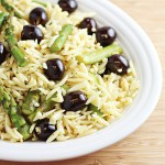 Easy Side Dish: Orzo with Black Olives and Asparagus Recipe