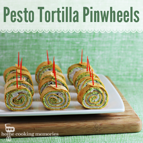Party Food: Pesto Tortilla Pinwheels Appetizer