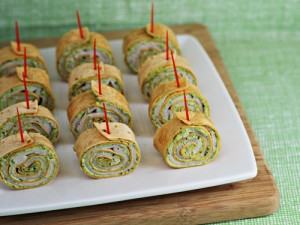 Party Food: Pesto Tortilla Pinwheels