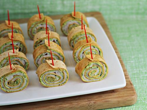 Party Food: Pesto Tortilla Pinwheels