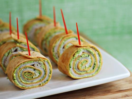 Party Food: Pesto Tortilla Pinwheels Appetizer