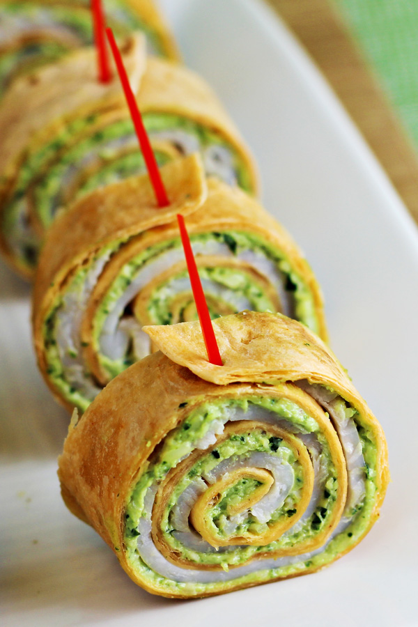 Easy Party Food: Pesto Tortilla Pinwheels Recipe