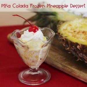 Piña Colada Frozen Pineapple Dessert
