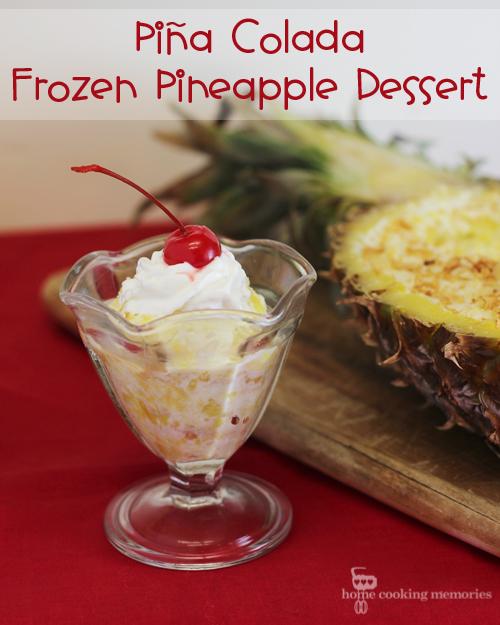 Pina Colada Frozen Pineapple Dessert