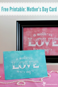 Free Printable: Mother's Day Card