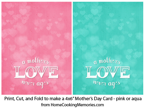 Free Printable: Mothers Day Cards