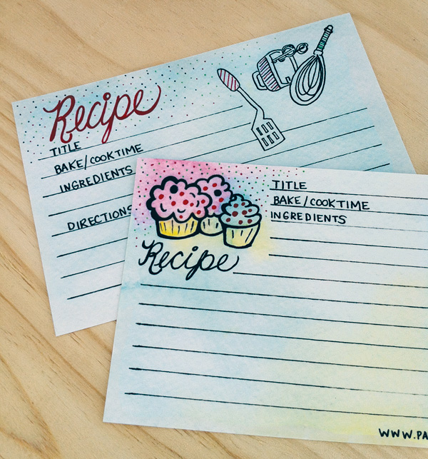 Free Printable Recipe Card from Paper Squid