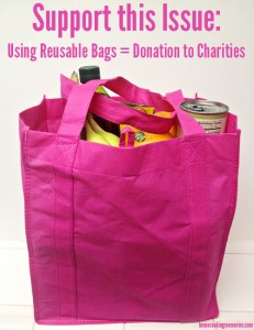 Support This Issue: Using Reusable Bags = Donation to Charities #SocialPower