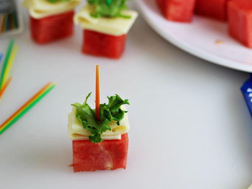 Watermelon Havarti Bites