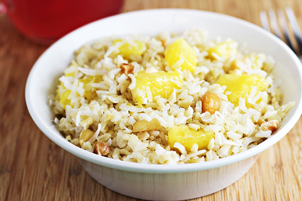 Coconut Pineapple Rice Recipe (easy side dish)