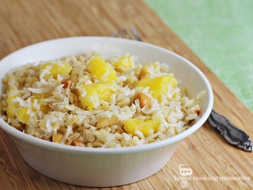 Coconut Pineapple Rice (easy side dish) #SuccessRice #ad