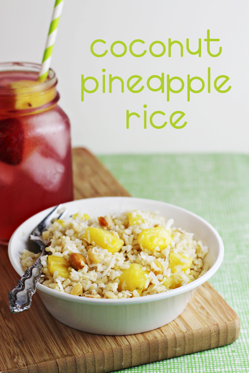Easy side dishes coconut pineapple rice recipe home cooking memories - Six alternative uses of rice at home ...