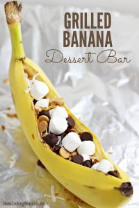 Easy Grilled Banana Dessert Bar Idea