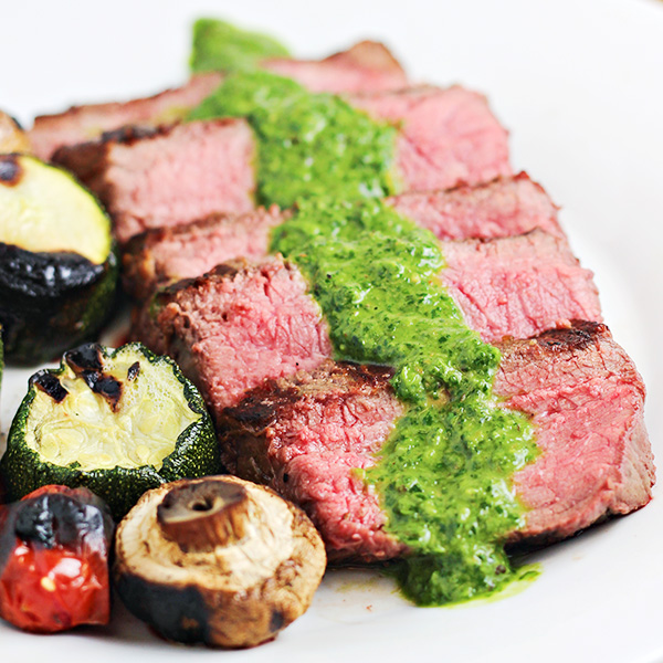 Grilled Steaks with Chimichurri Sauce Recipe