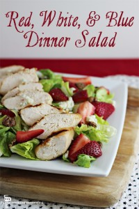 Red, White, and Blue Dinner Salad