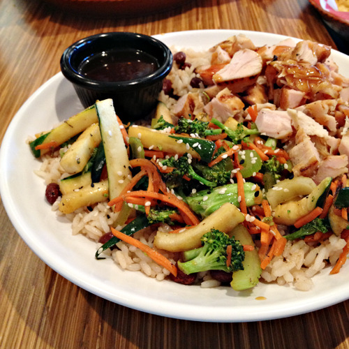 Rumbi Island Grill Chicken Rice Bowl with Hawaiian Teriyaki Sauce