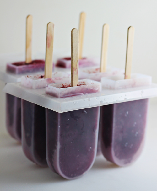 Blueberry Tea Popsicles