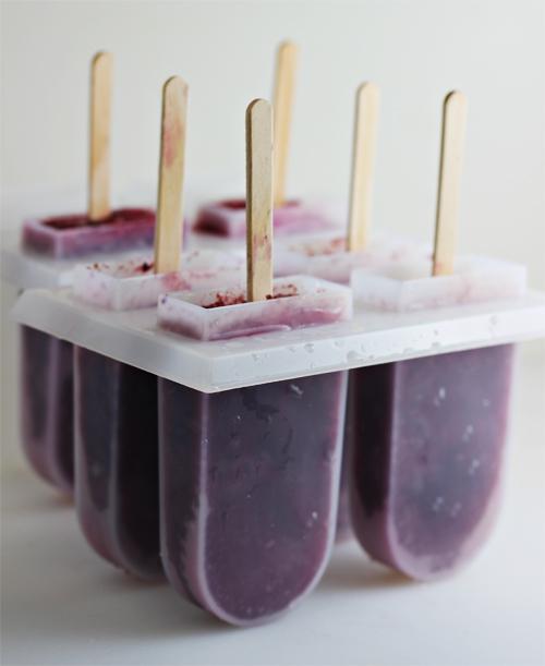 Blueberry Tea Popsicles