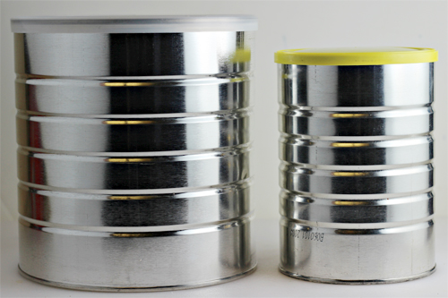 Empty Coffee Cans for Ice Cream in a Can