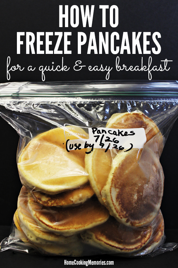 How to Freeze Pancakes - for a quick and easy breakfast