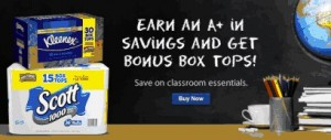 Earn Bonus Box Tops for Education for Schools