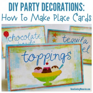 DIY Party Decorations: Place Cards (Table Cards)