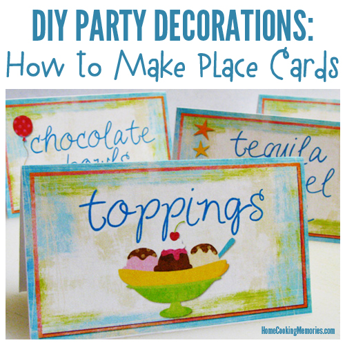 DIY Party Decorations - How to Make Place Cards or Table Cards