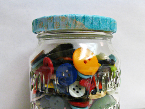 How to Make Pretty Lids for Old Jars