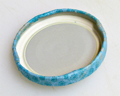 How to Make Pretty Lids for Old Jars: Underside of Lid
