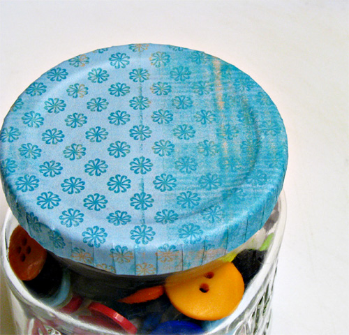 How to Make Pretty Lids for Old Jars (for food gifts or office & craft storage)