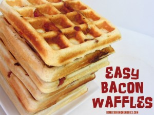 Easy Bacon Waffles