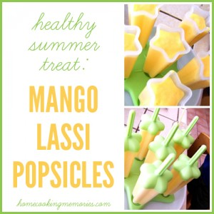 Mango Lassi Popsicles Recipe – a healthy summer treat