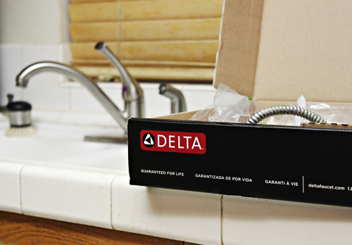 Our new Delta faucet