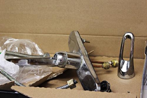 Old broken faucet