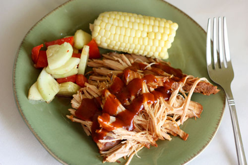 Slow Cooker Root Beer Pulled Pork by Cupcakes and Kale Chips